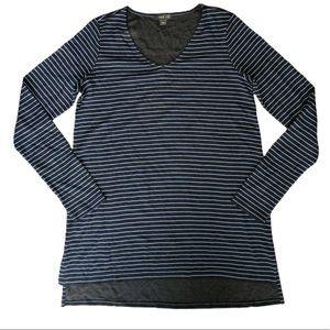 J. Jill Wearever Striped Long Sleeve Tunic Top